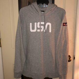 North Face XL USA Hoodie Gray